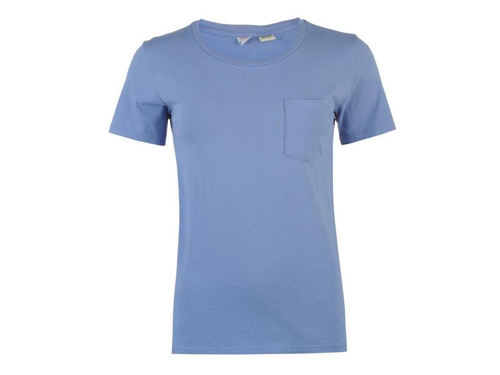 Dámské triko Levis Perfect Pocket Tee Modré