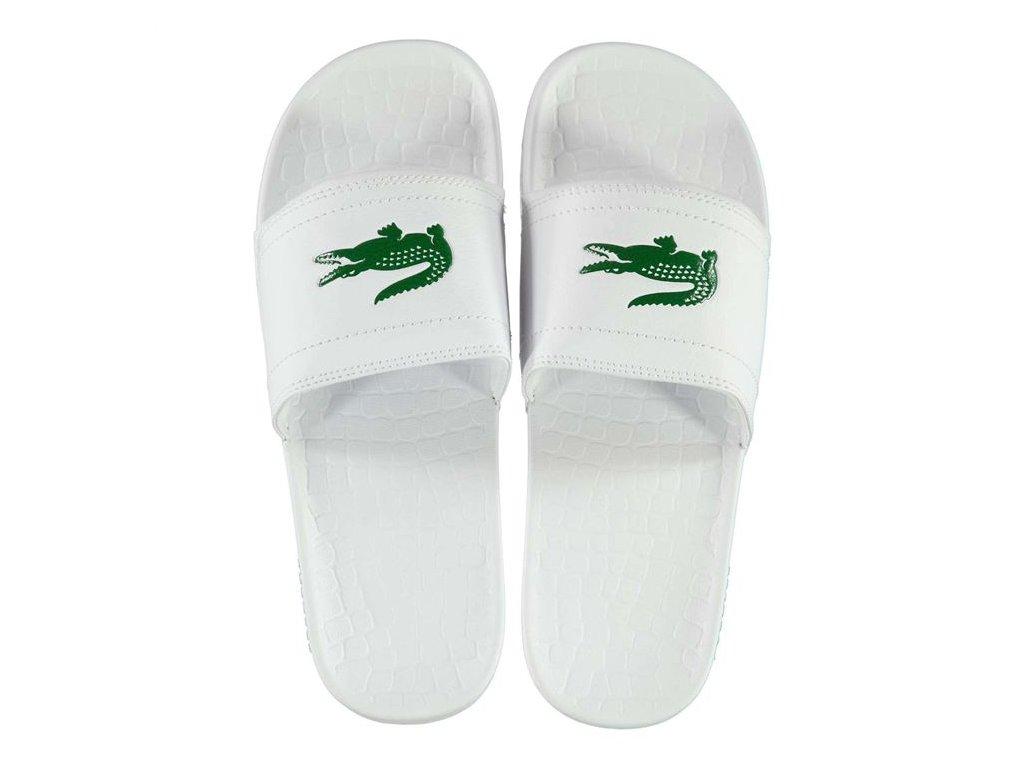 Pantofle Lacoste Sliders Bílé