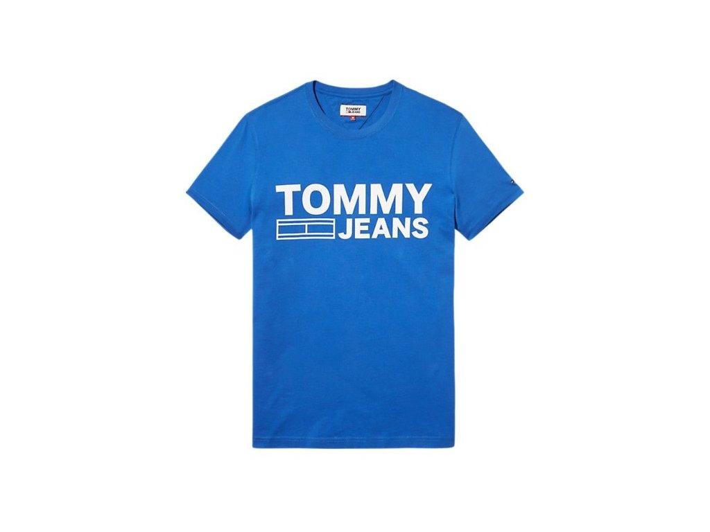 Pánské triko Tommy Jeans Logo Modré