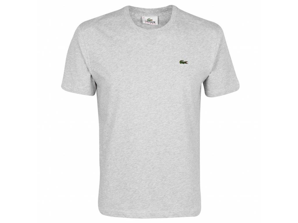 Pánské triko Lacoste Basic Logo Světle šedé
