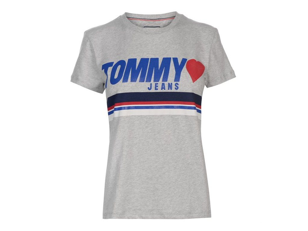 Dámské triko Tommy Hilfiger Jersey Šedé
