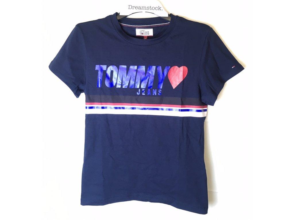 Dámské triko Tommy Hilfiger Cross Černé