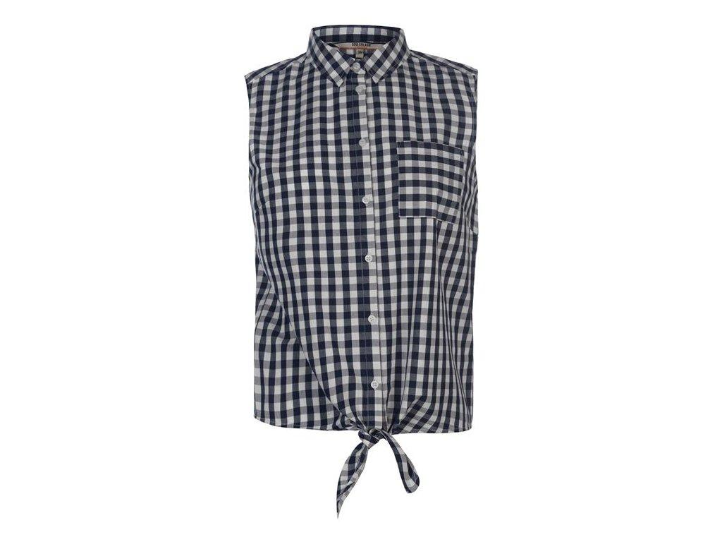 Dámská vesta košile Soulcal Tie Navy Check