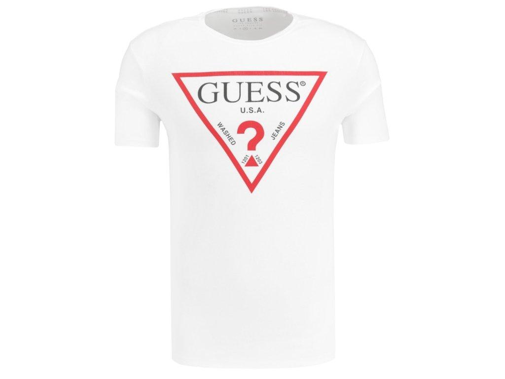 T shirt LOGO ORIGINAL Slim Fit Guess Jeans White Gomez pl