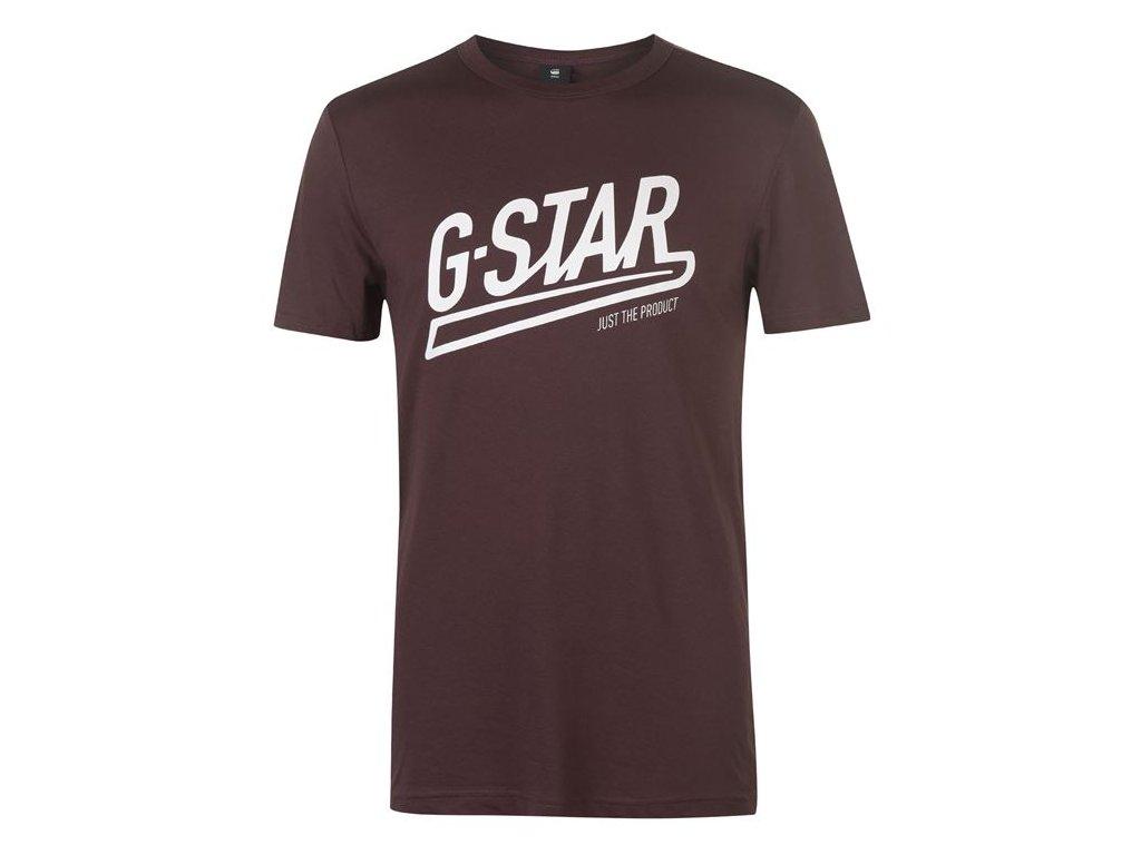 Pánské triko G Star Tomer Art Hnědé