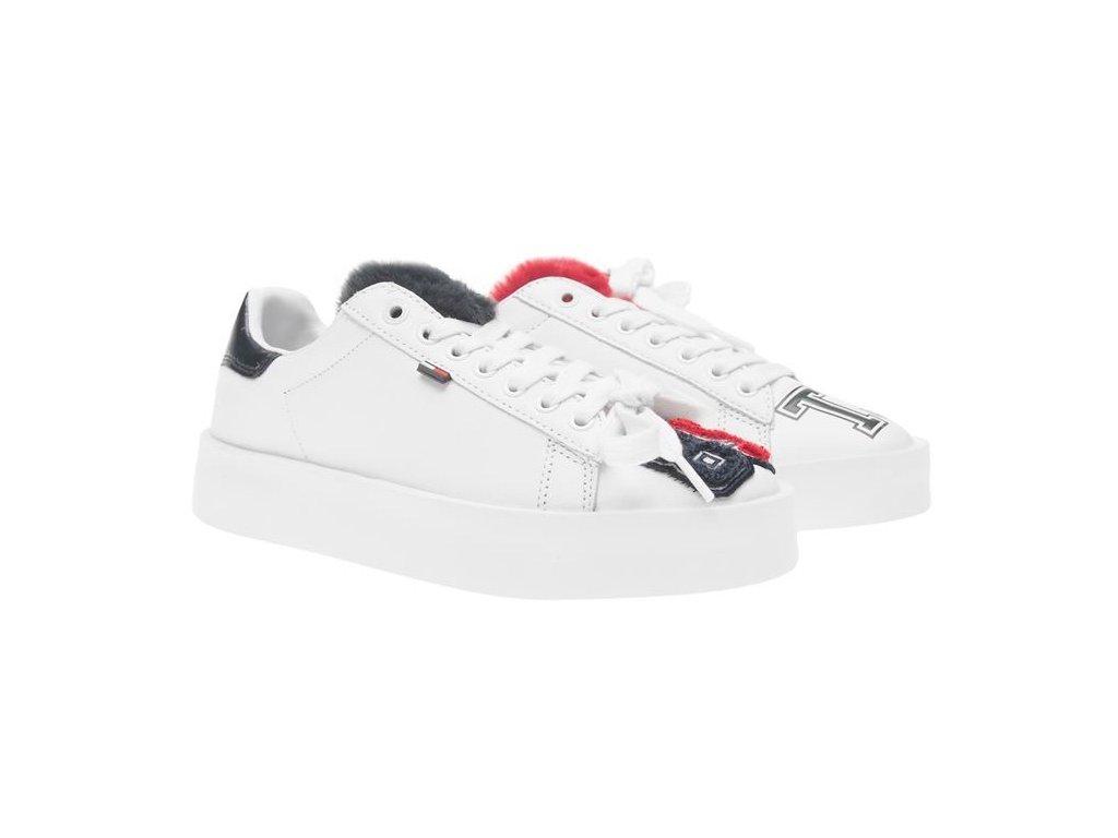 Dámské boty Tommy Hilfiger Retro Fun Bílé