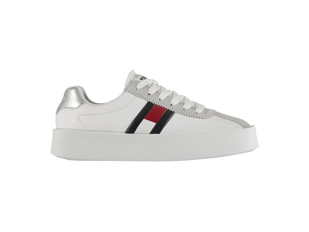 Dámské boty Tommy Hilfiger Retro Sneak Bílé