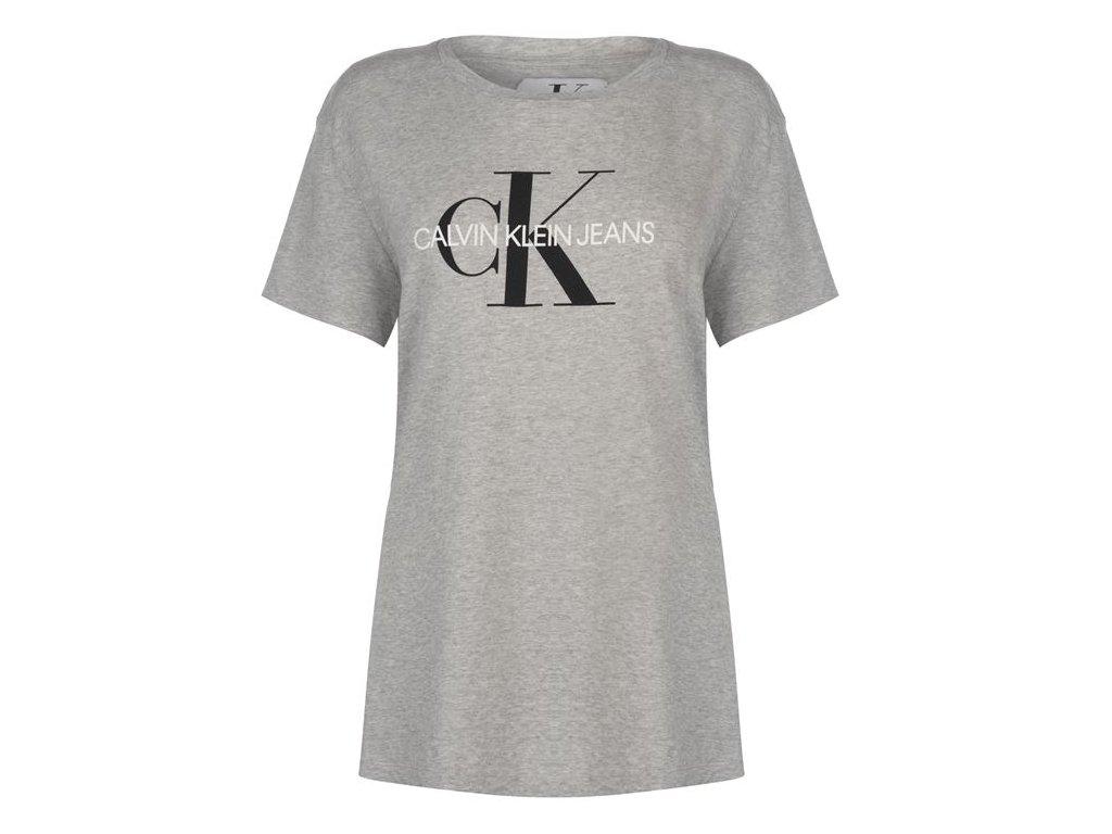 Dámský top Calvin Klein Jeans Mono Logo T Šedé