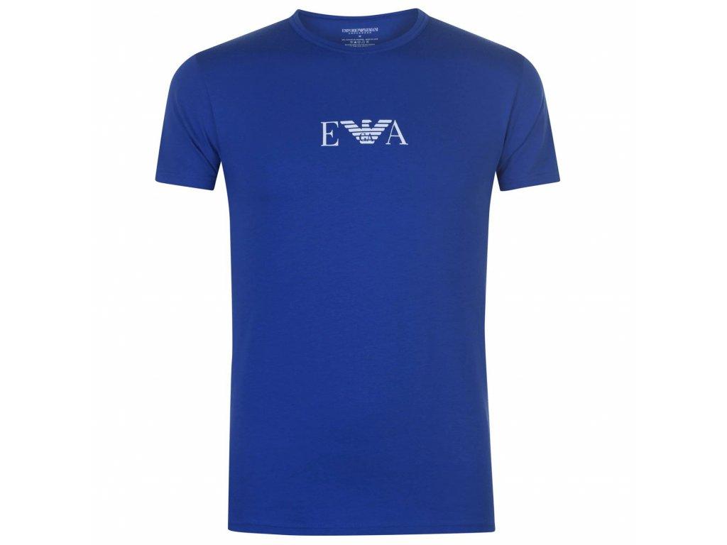 Triko Emporio Armani Logo T Modré