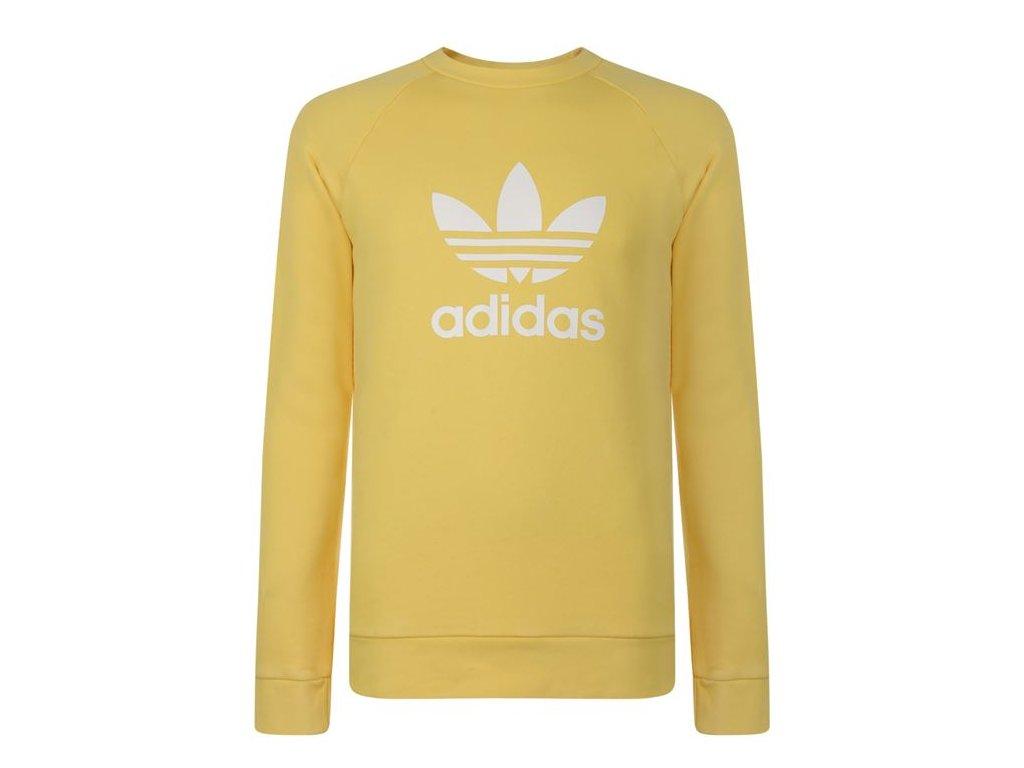 Mikina adidas Originals Trefoil Sweatshirt Žlutá