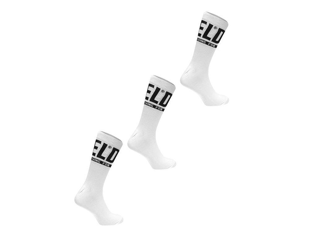 Ponožky Diesel Ray 3 páry v balení Bílé