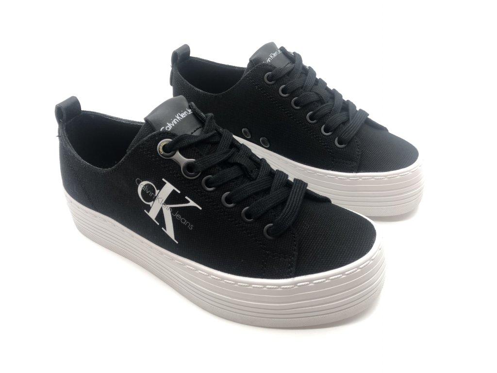 5c75c37c57 Dámské boty Calvin Klein Zolah na platformě Černé - Dreamstock.