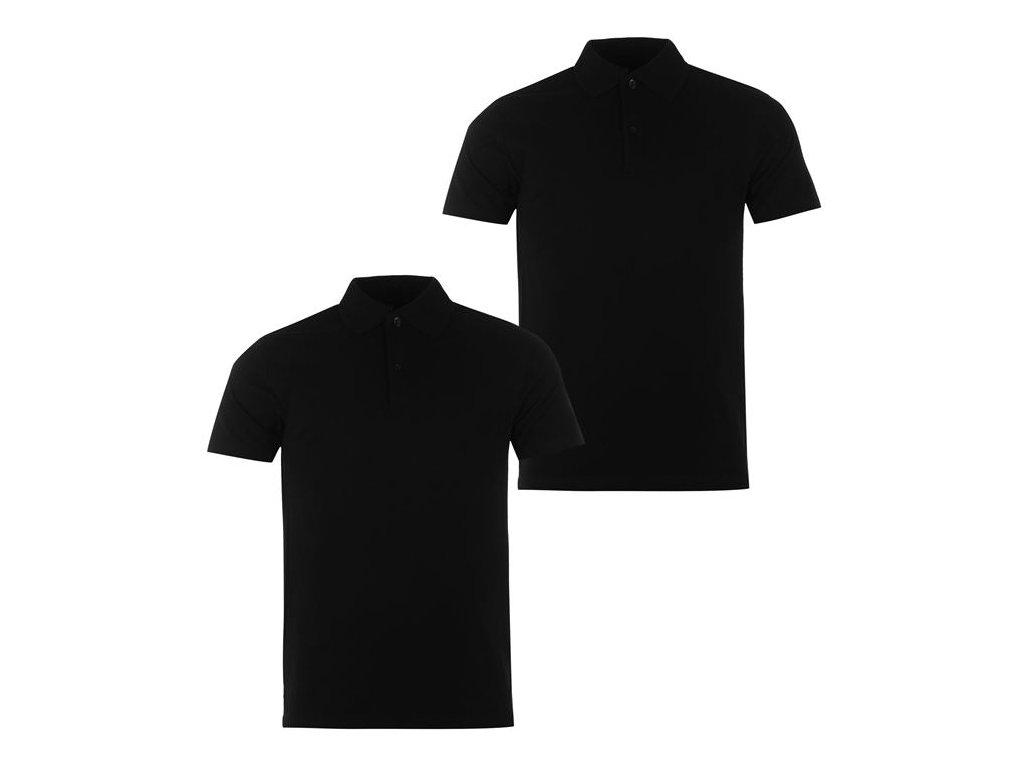 Pánská trika Donnay Polo 2 v balení Černé