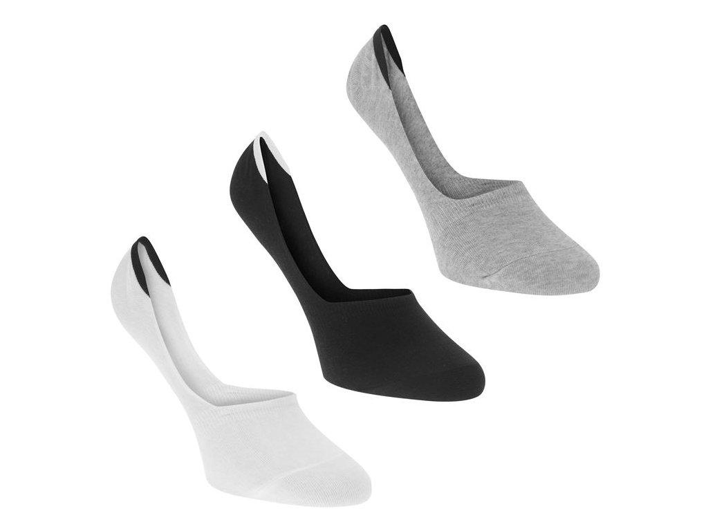 Pánské neviditelné ponožky Calvin Klein 3 v balení Multi