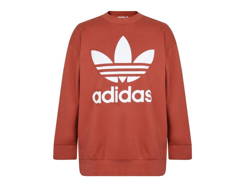 Mikina adidas Originals Trefoil Sweatshirt Oranžová