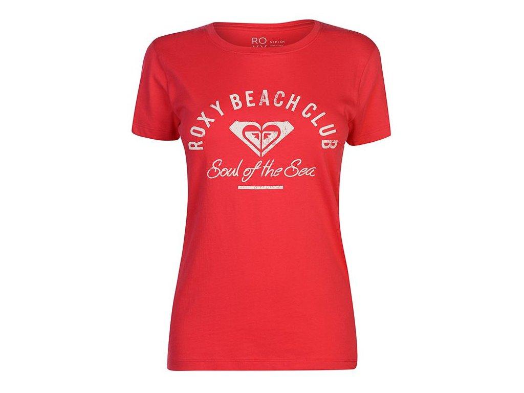 Dámské triko Roxy Beach Červené