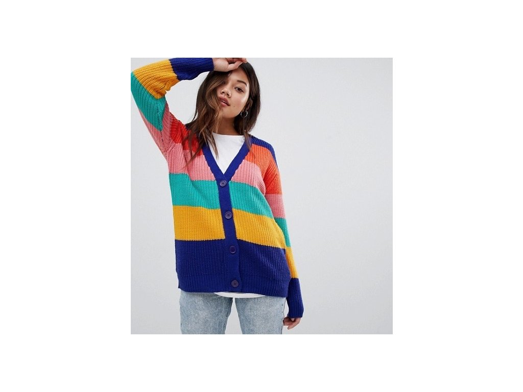 Dámský kardigan svetr Brave Soul Anya Rainbow