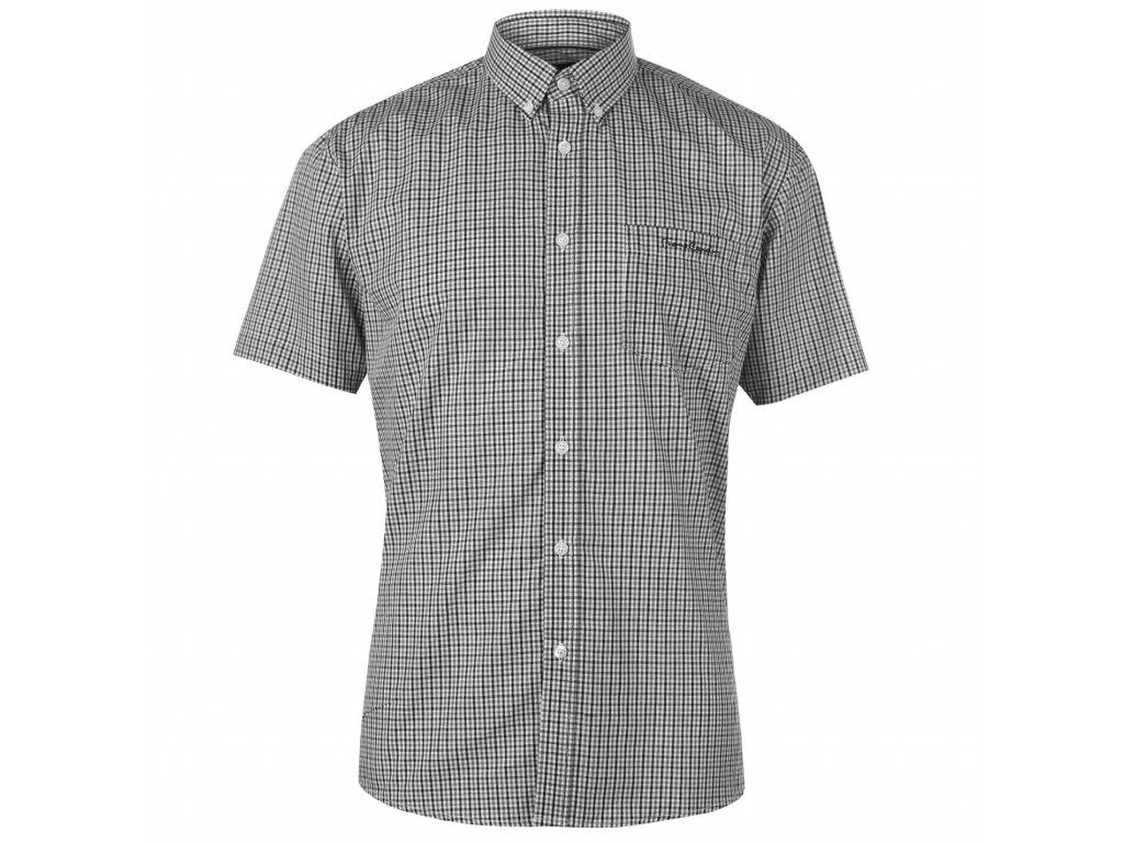 Pánská košile Pierre Cardin s krátkým rukávem Black Check