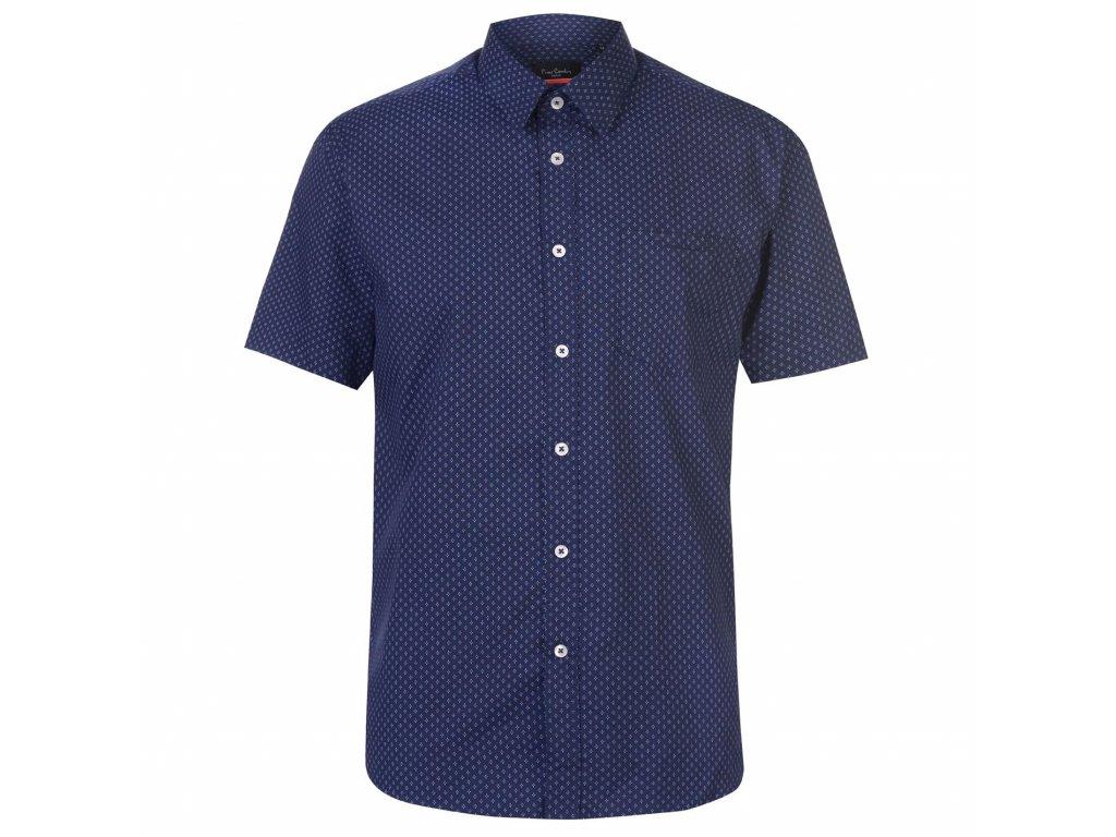 Pánská košile Pierre Cardin s krátkým rukávem Modrá