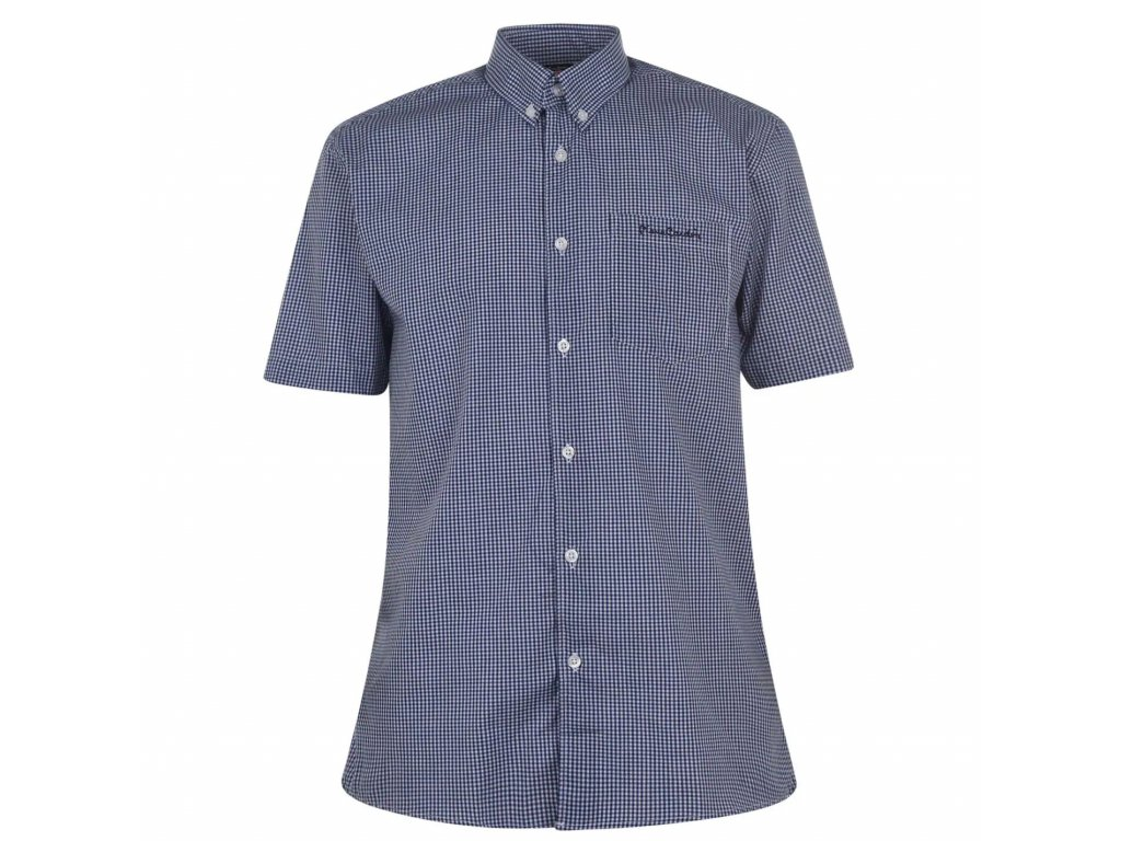 Pánská košile Pierre Cardin s krátkým rukávem Světle Modrá