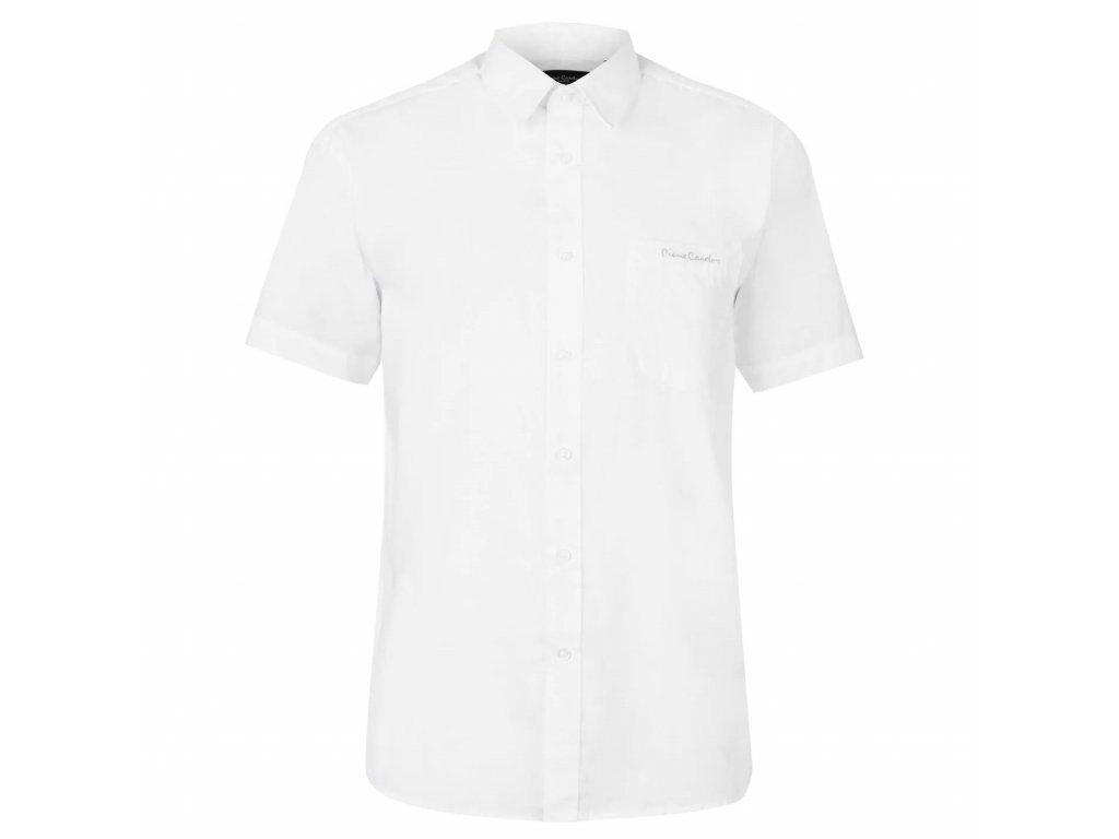 Pánská košile Pierre Cardin s krátkým rukávem Plain White