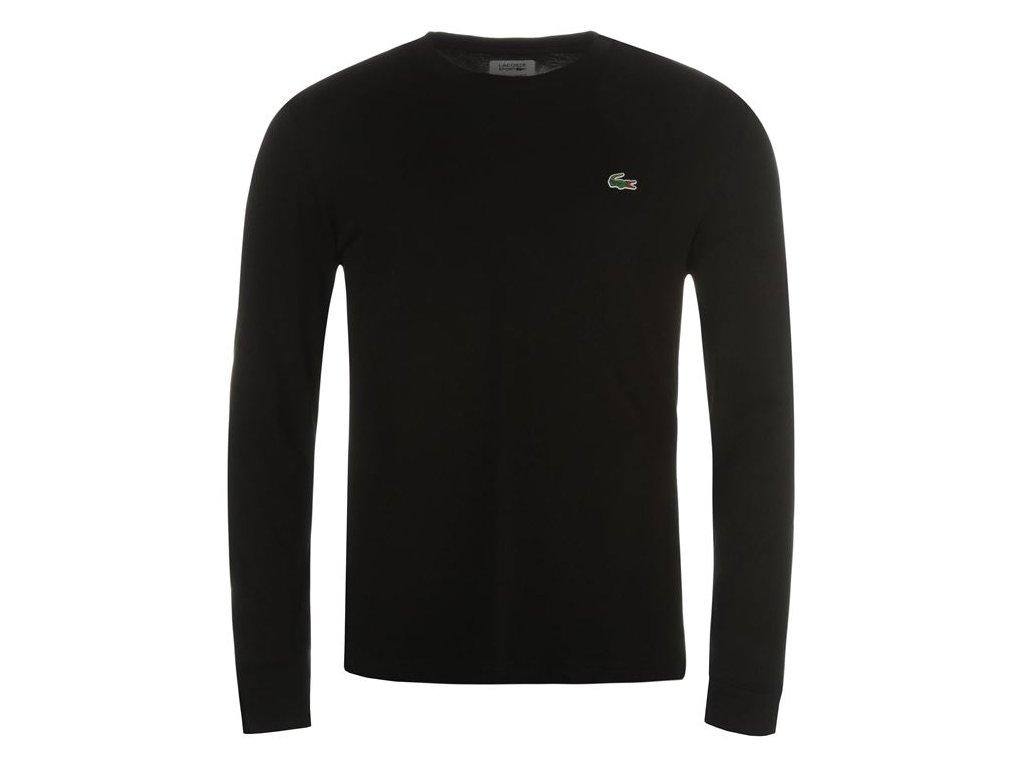 Pánské triko Lacoste Basic Černé