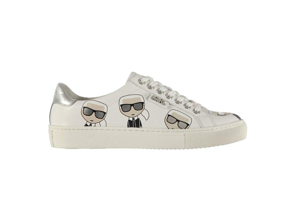 Dámské boty Karl Lagerfeld Kupsole Multi Bílé