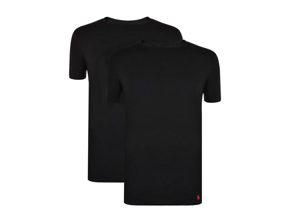 Pánské triko Polo Ralph Lauren 2 Pack Crew Černé - Dreamstock. 12fdcd52b72
