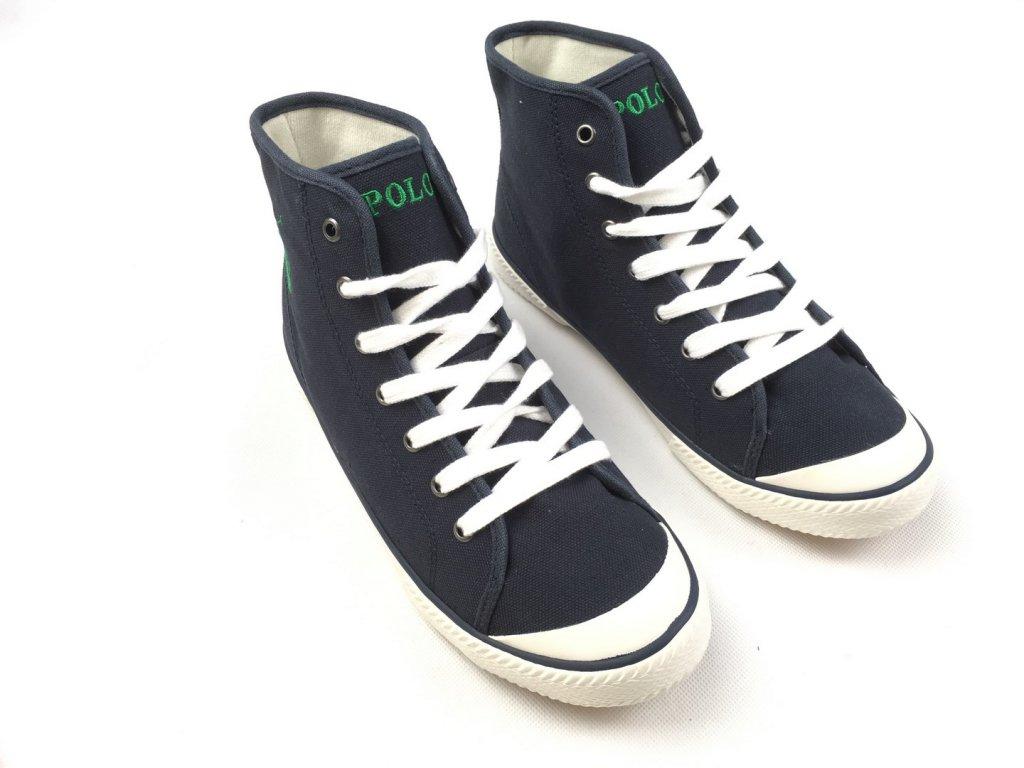 Dámské boty Ralph Lauren Canvas Navy Hi