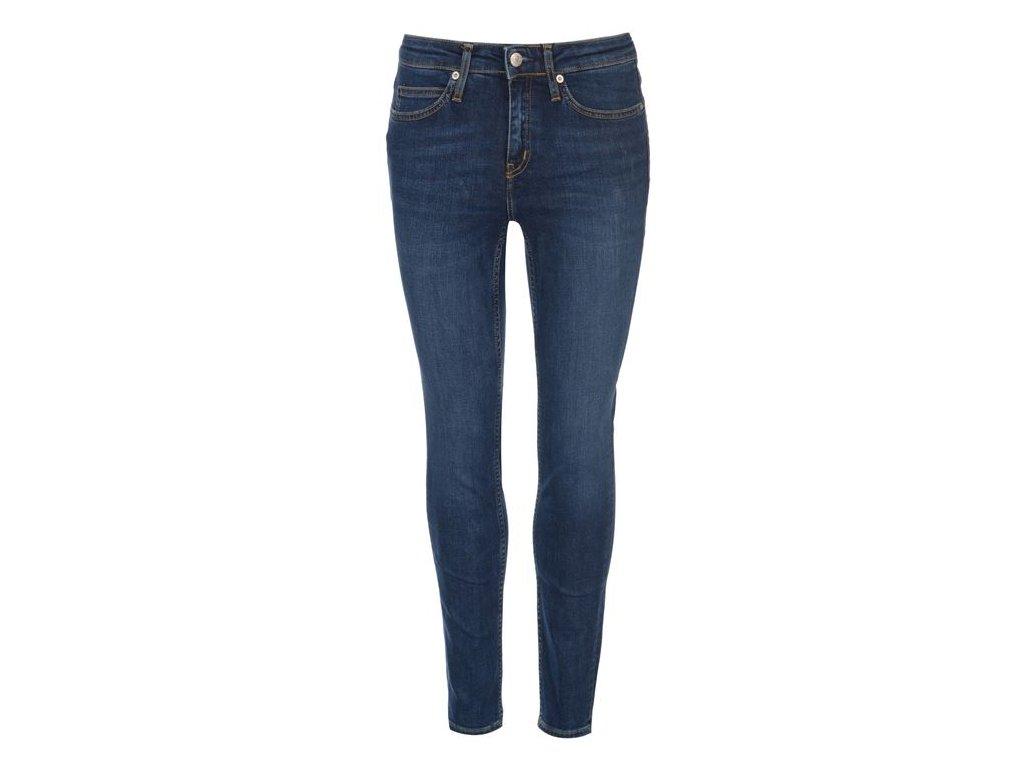 Dámské džíny Calvin Klein Jeans Mid Rise Skinny Modré