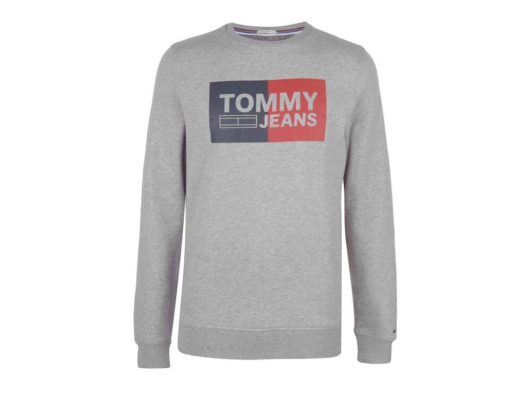 Pánská mikina Tommy Hilfiger Essential Block Šedá