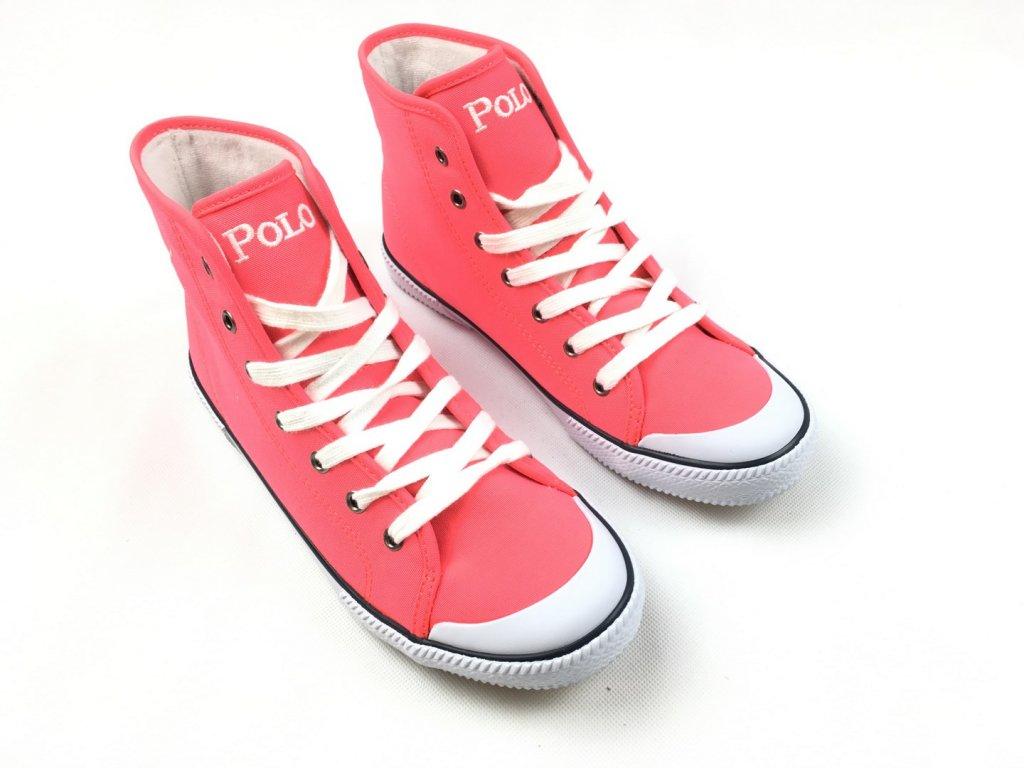 Dámské boty Ralph Lauren Neon Pink Hi