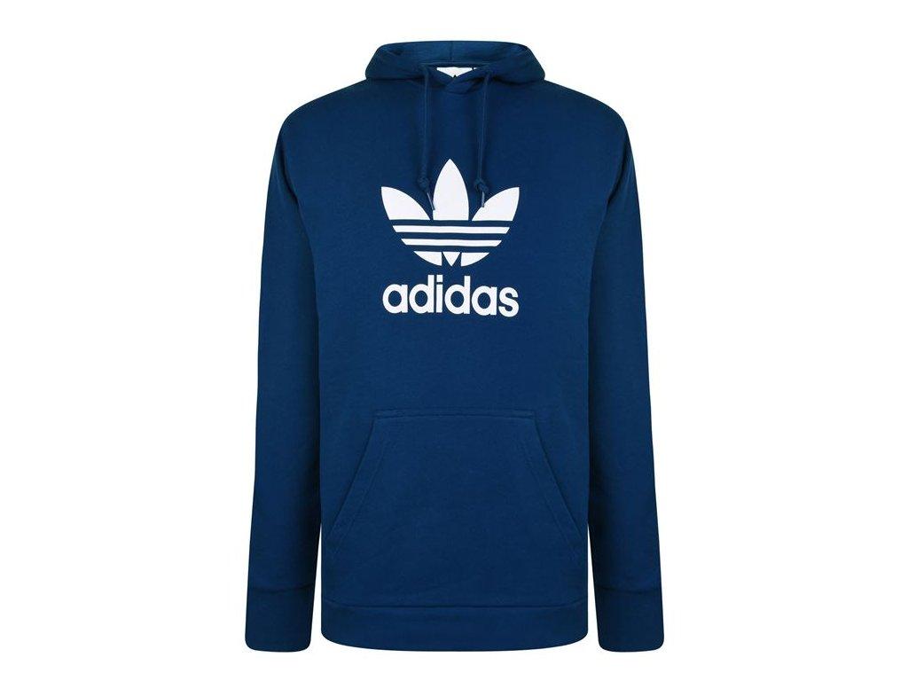 Mikina adidas Originals Trefoil Hood Modrá