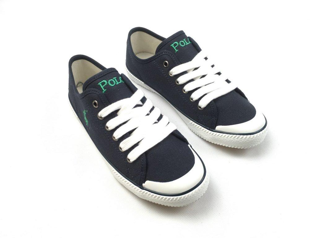 Dámské boty Ralph Lauren Canvas Chaz Navy