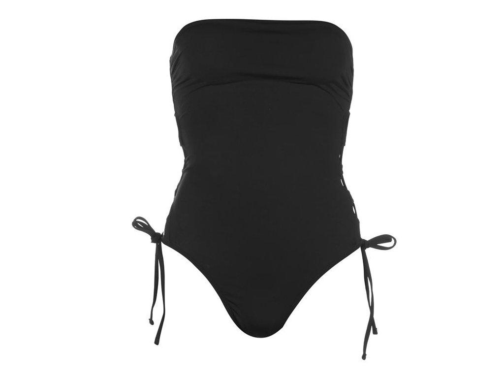 Dámské jednodílné plavky Firetrap Blackseal Černé