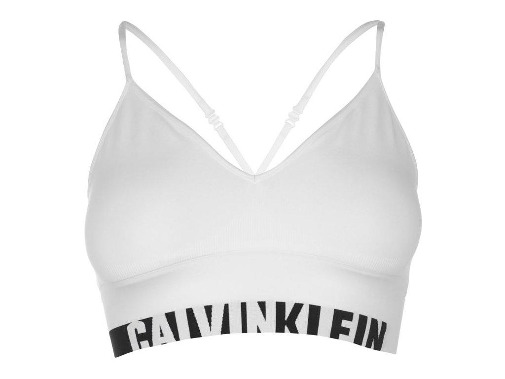 Podprsenka Calvin Klein Long Bílá
