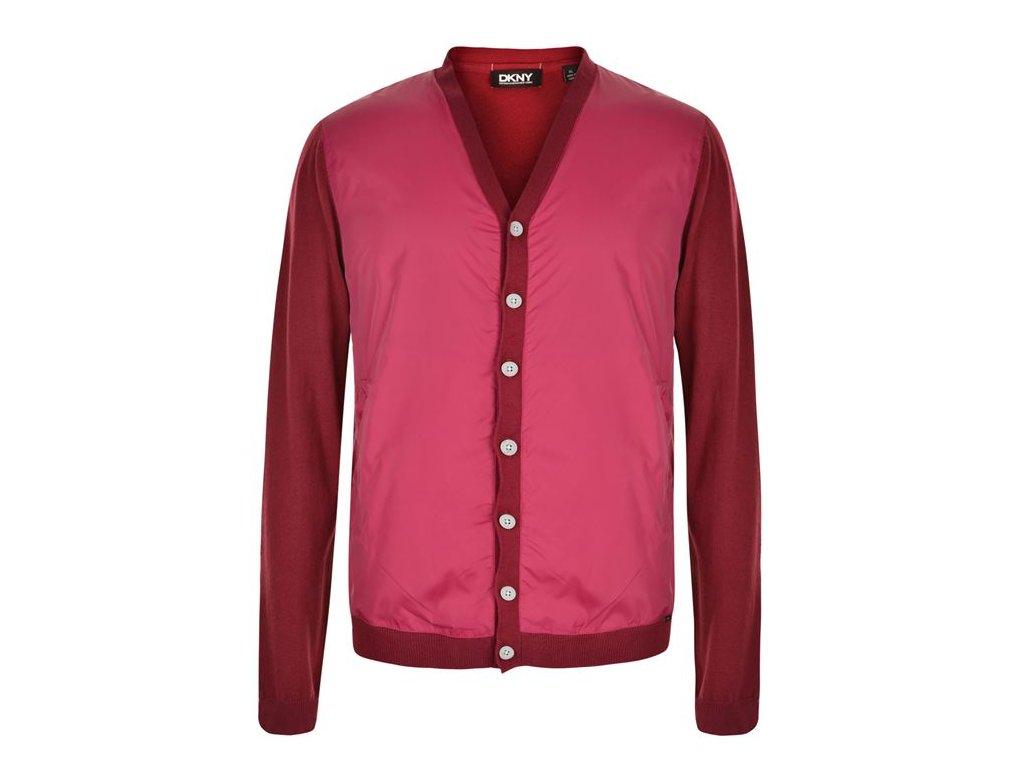 Pánský kardigan DKNY Knitted Červený