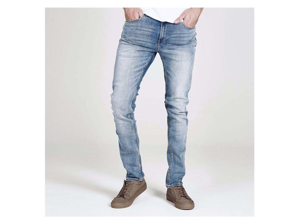 Pánské džíny Firetrap Skinny fit Modrobílé