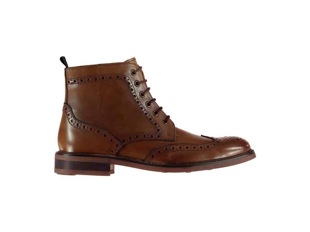 Pánské boty Firetrap Rutland Hnědé