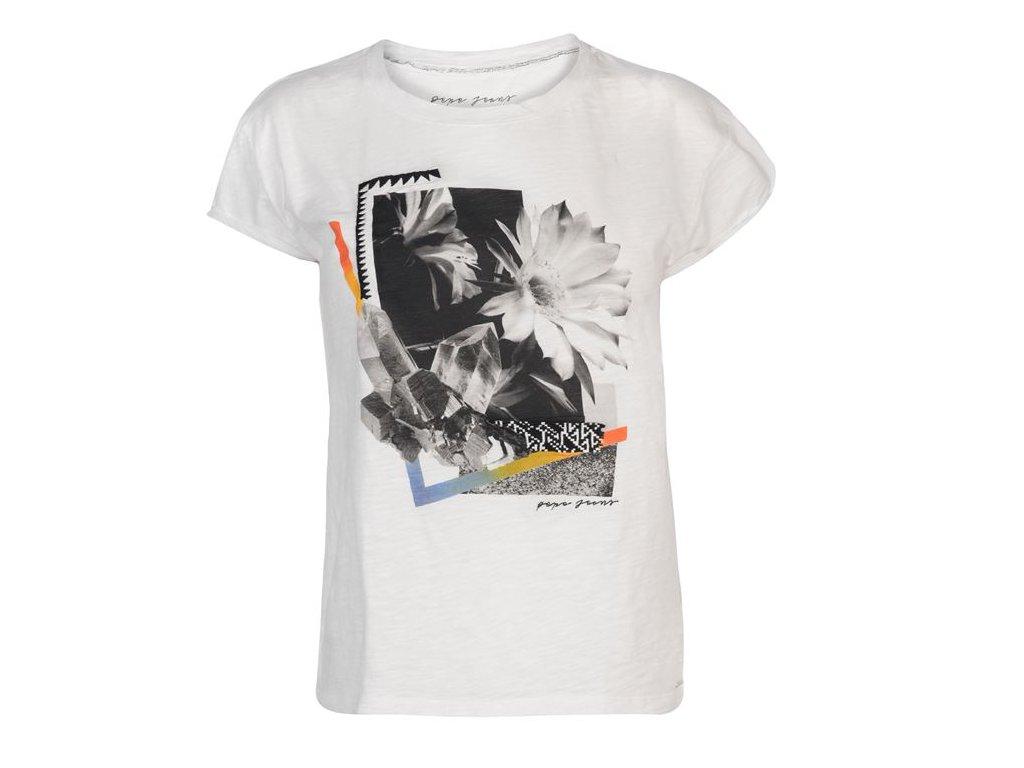Dámské triko Pepe Jeans Taft Bílé