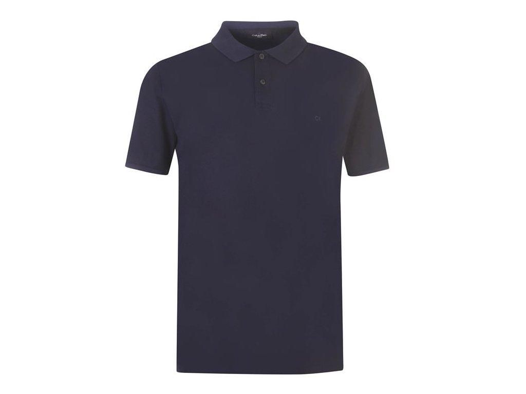 Pánské triko Calvin Klein Pique Polo Navy