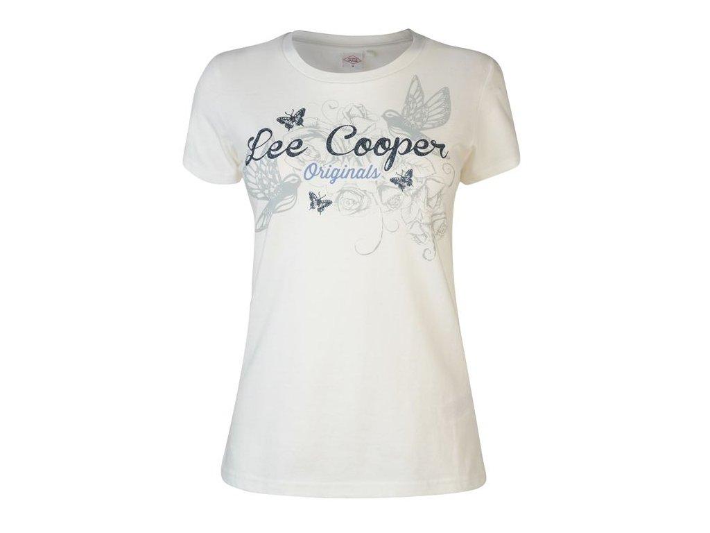 Dámské triko Lee Cooper Classic Krémové