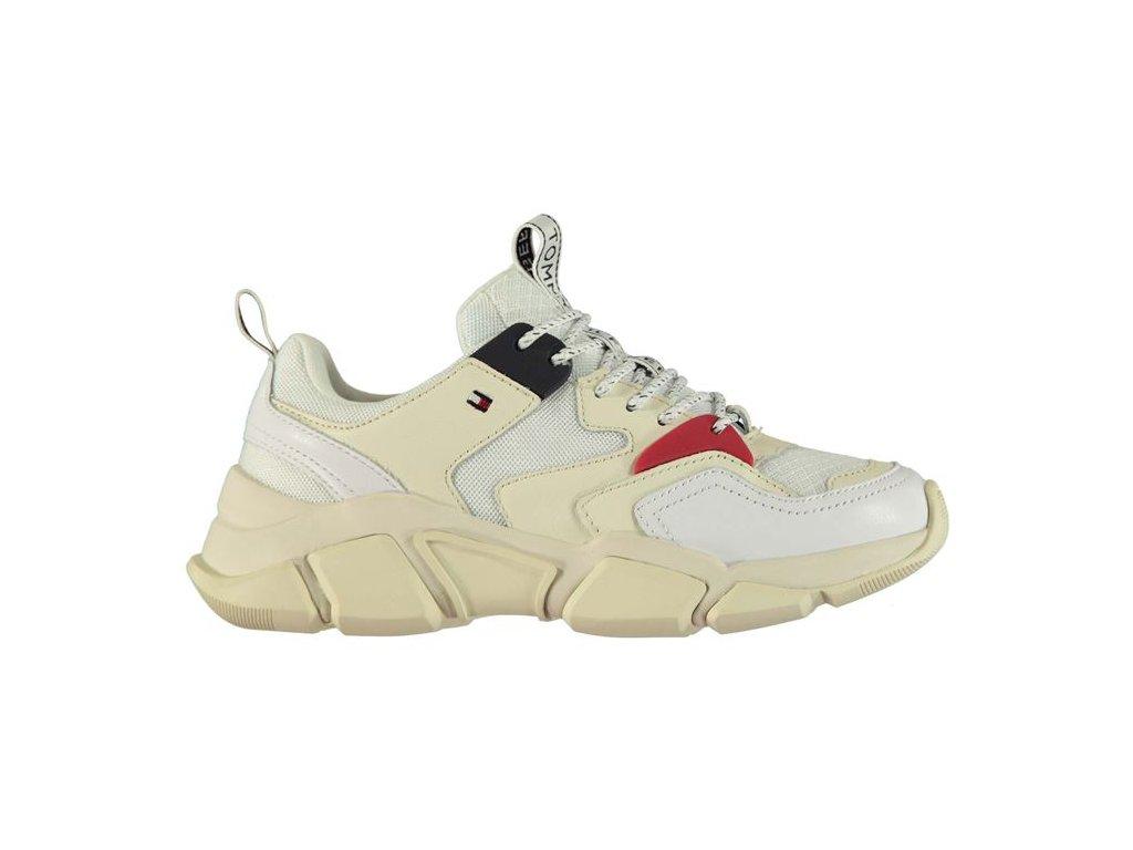 Dámské boty Tommy Hilfiger Chunk Mix Bílé