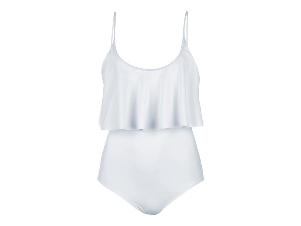 Jednodílné plavky USA Pro Frill Bílé