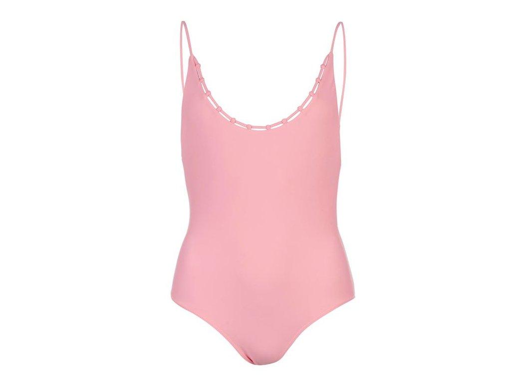 Jednodílné plavky USA Pro Lattice Růžové