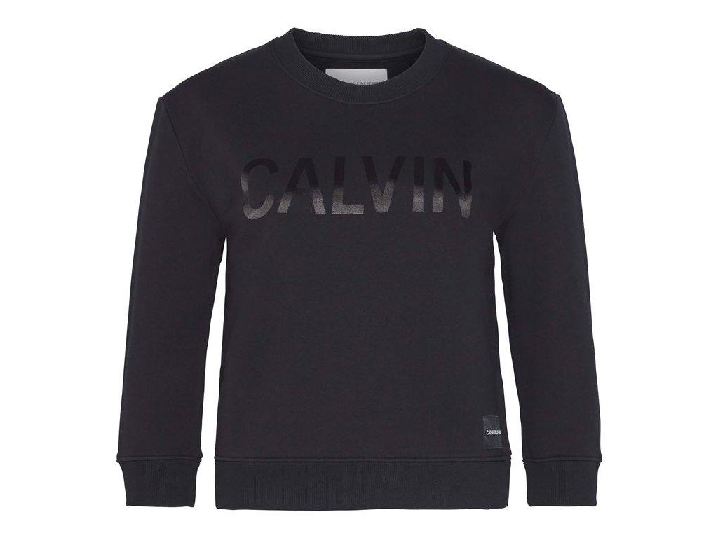 Dámská mikina Calvin Klein Satin Bond Černá
