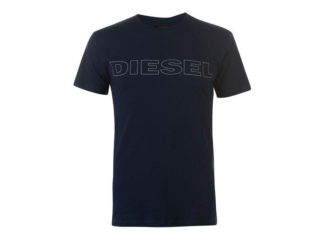 Pánské triko Diesel Jake Large Logo Navy