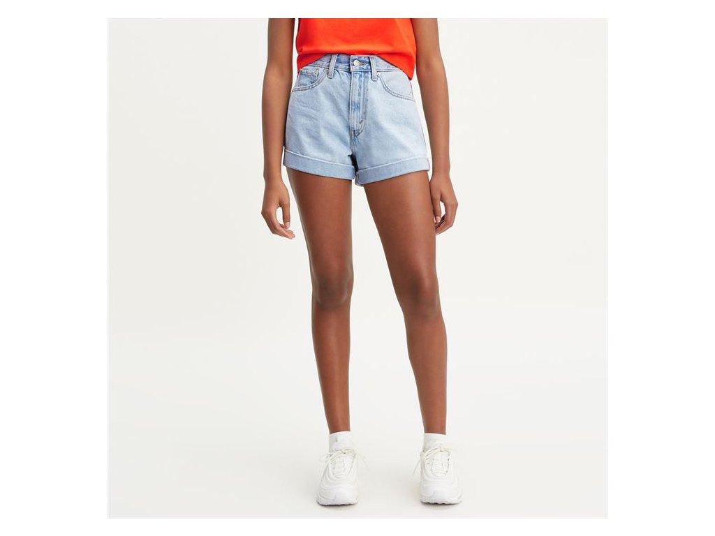 Dámské Mini šortky Levis A Line Modré