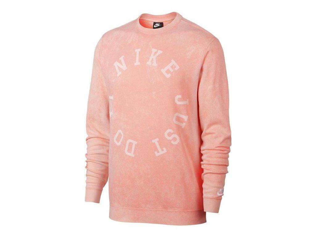 Pánská mikina Nike Wash Crew Růžová