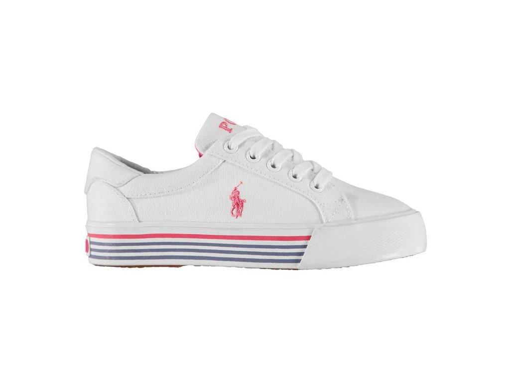 Dámské boty Polo Ralph Lauren Annesbury Bílé